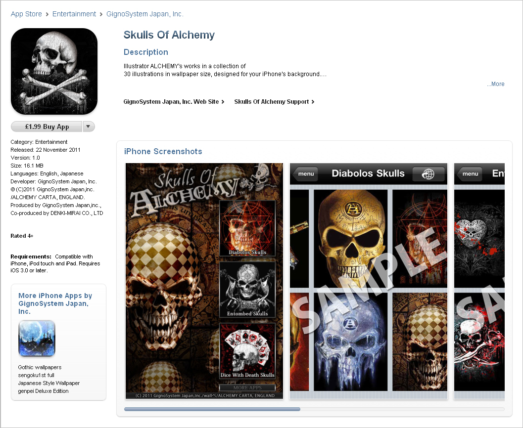 Alchemy Gothic is now on App store!