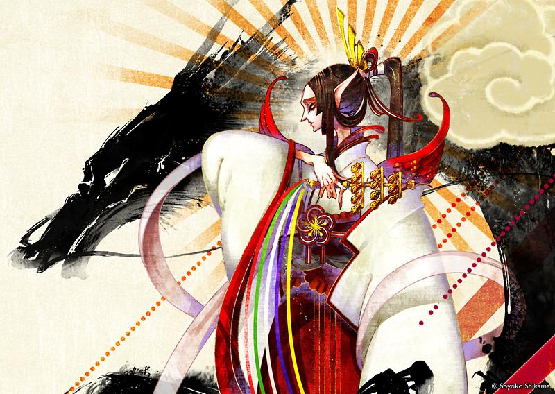 "Soyoko Shikama's new work ""Goshin Junkō"""