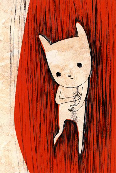 Maiko Kobayashi's art on Washi paper