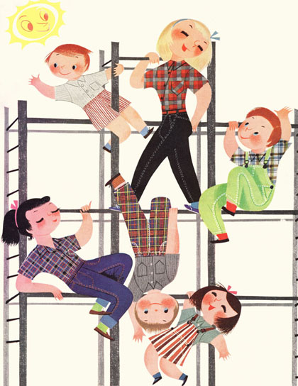 "Mary Blair's ""The Playground Kids"""
